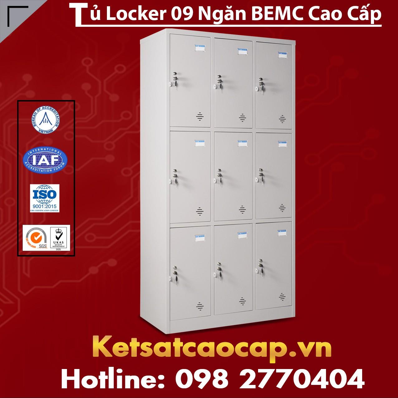 Tủ Locker BEMC 9 Ngăn