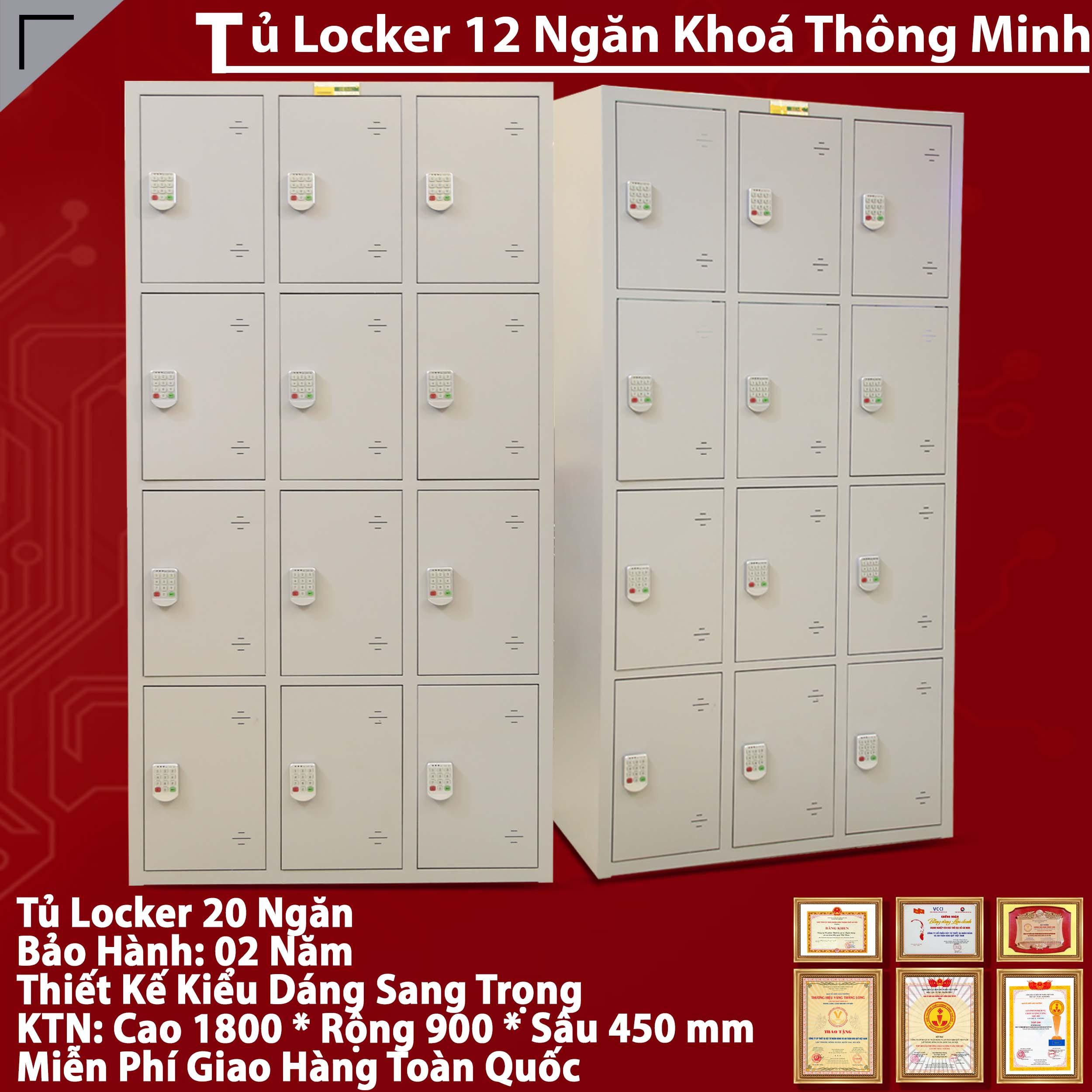 Tủ tài liệu locker 12 ngăn cao cấp mã TU984-3K