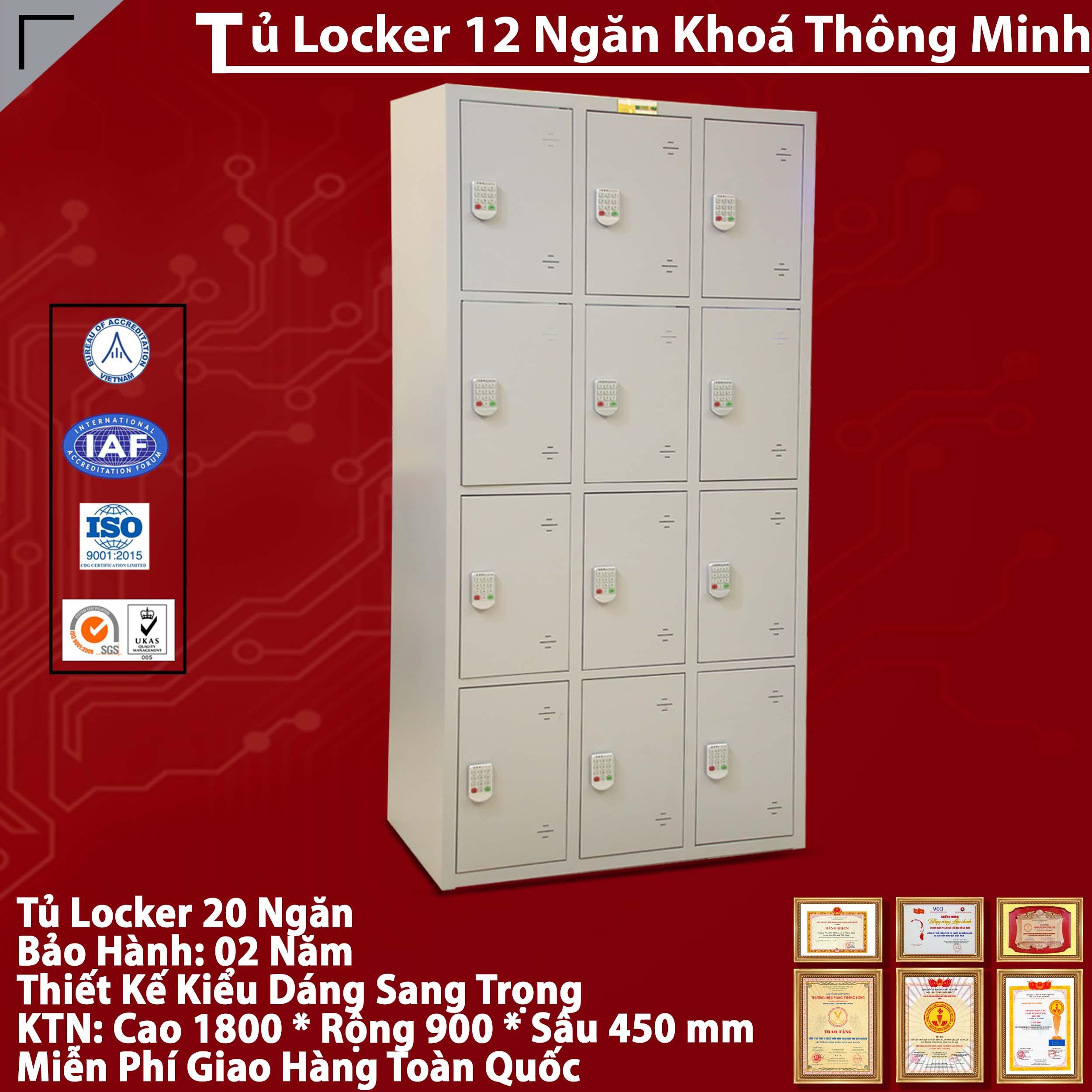 Tủ LOCKER sơn tĩnh điện 12 khoang TU984-3K