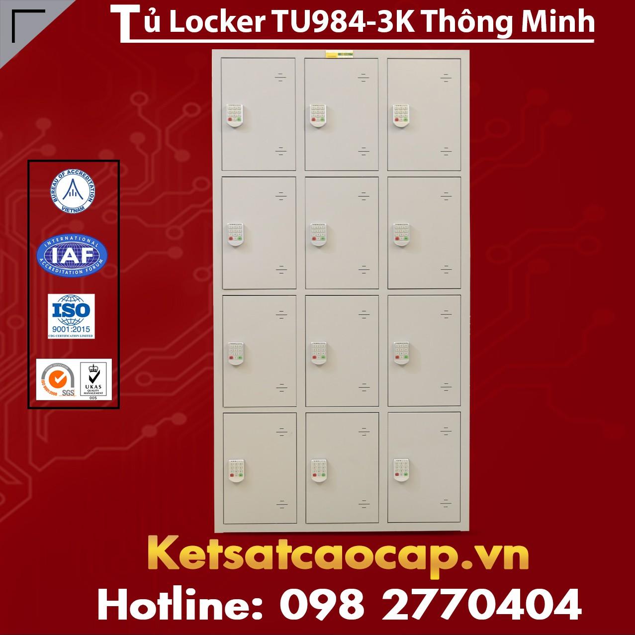 Tủ Locker TU984-3K Thông Minh