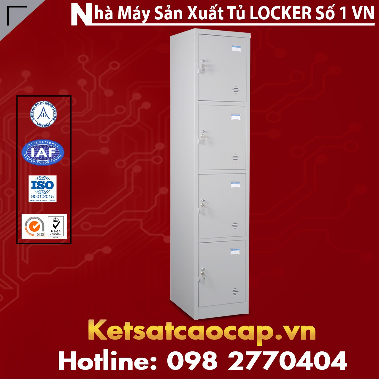 Tủ locker 4 ngăn TU984