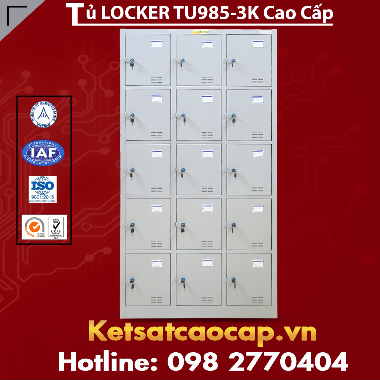 Tủ Locker TU985-3K