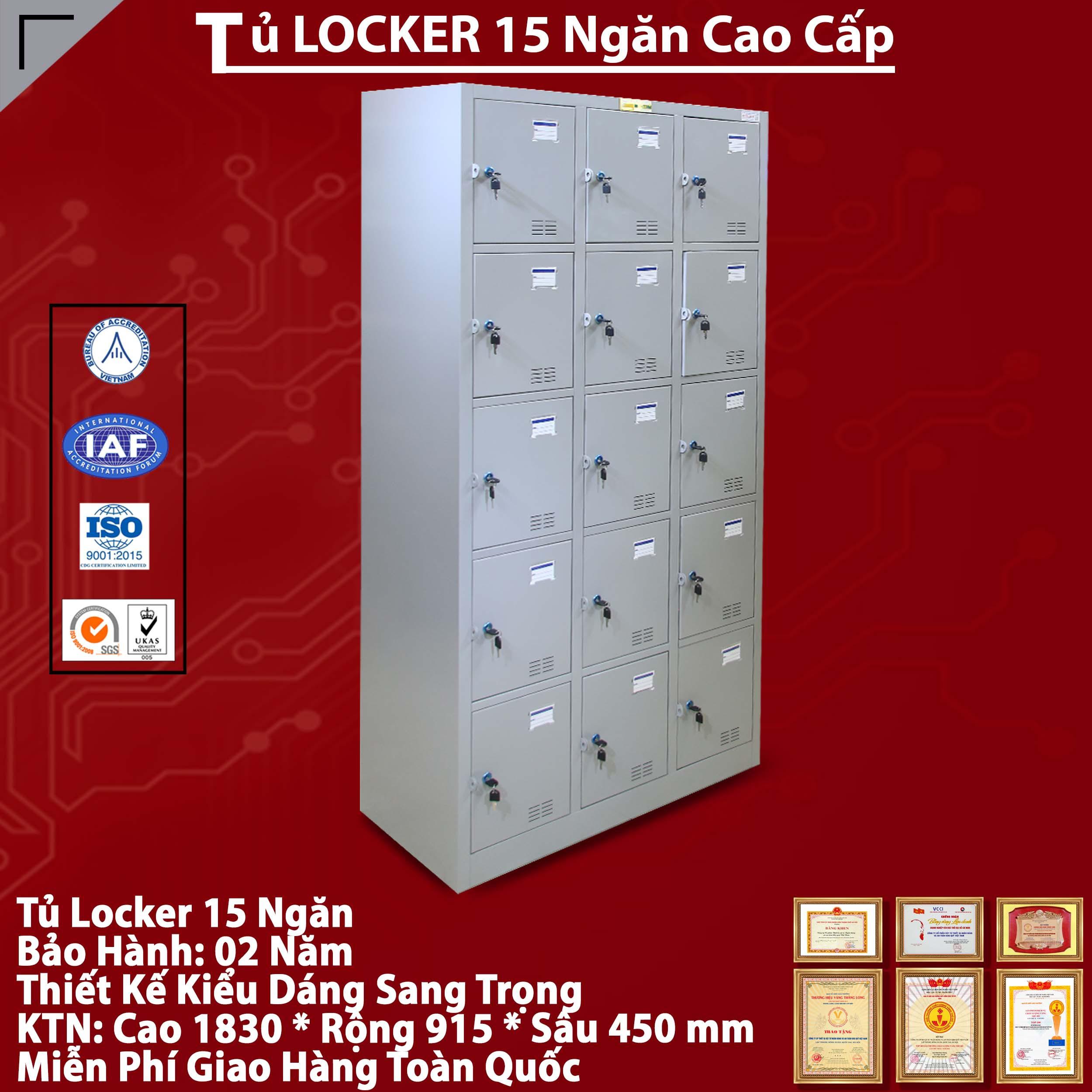 Tủ Locker 15 ngăn kiểu TU985-3K