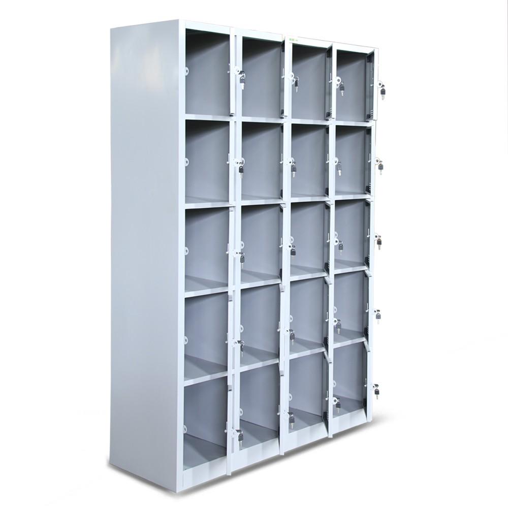 Tủ sắt locker Hòa Phát 20 khoang, màu ghi