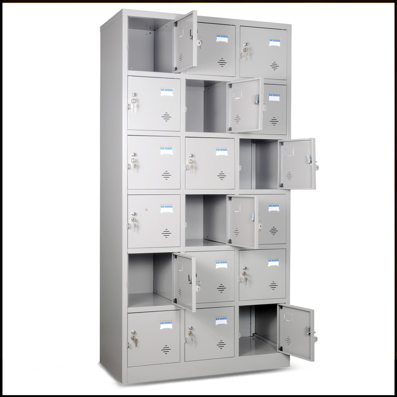 Tủ locker 18 khóa sắt TU986-3K bền đẹp, tiện dụng