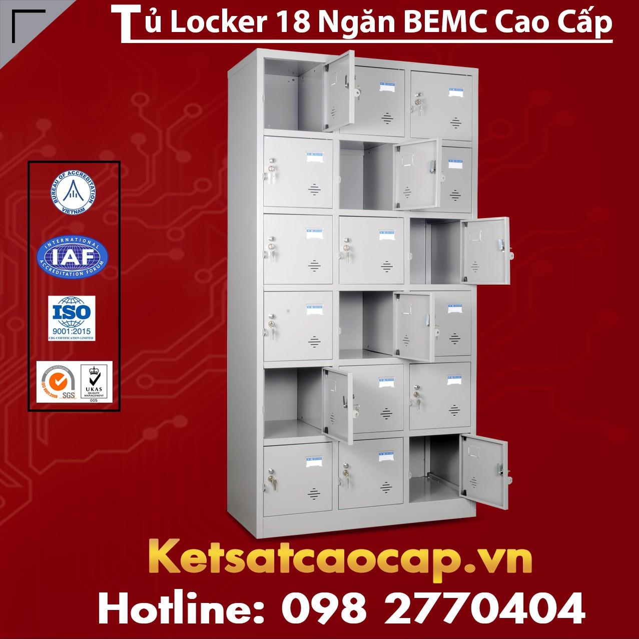 Tủ Locker BEMC 18 Ngăn