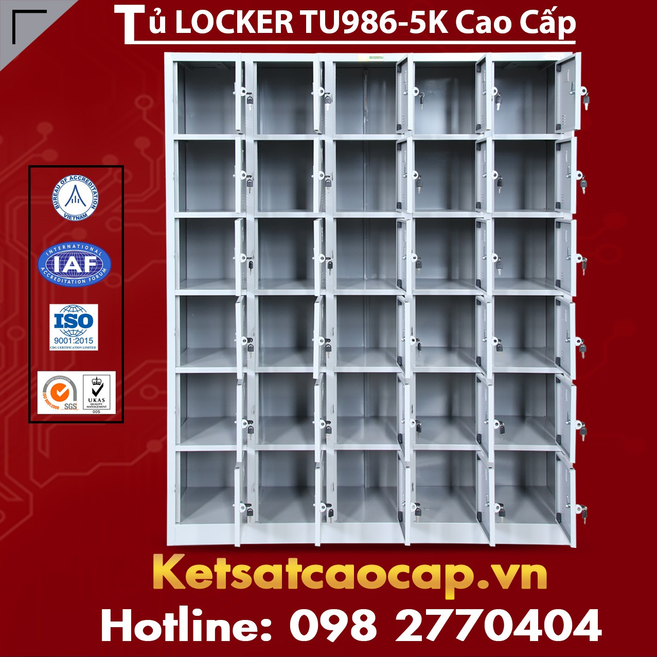 Tủ Locker TU986-5K