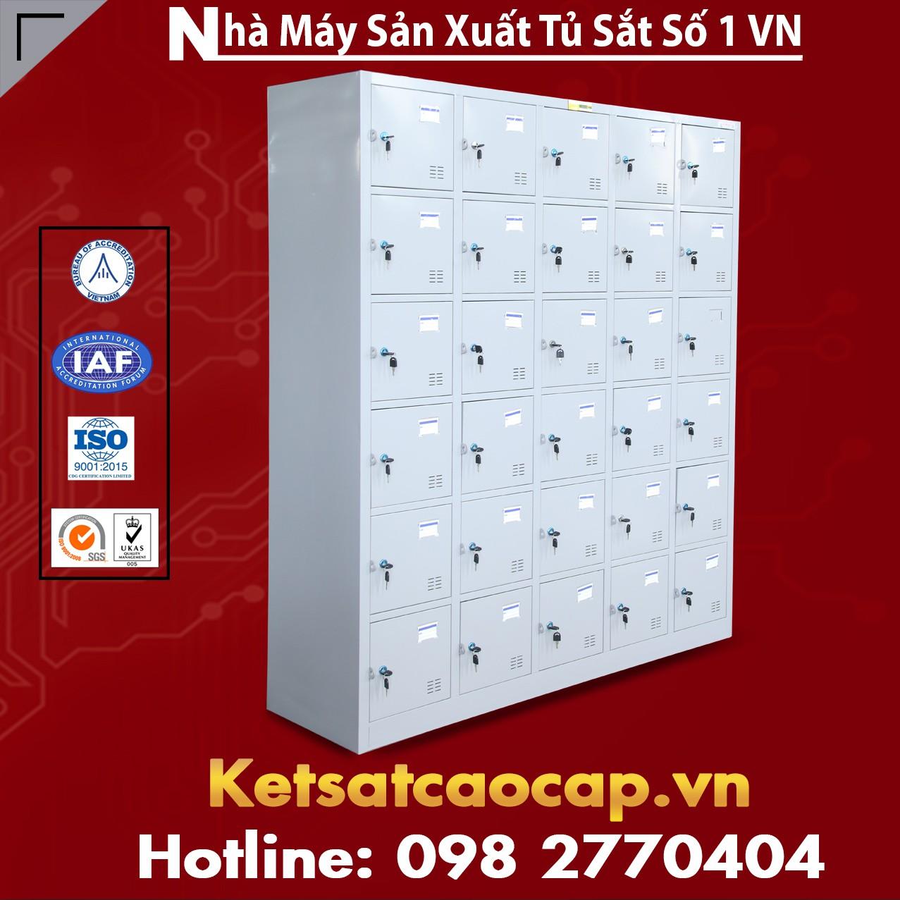 Tủ locker 30 ngăn cánh kiểu TU986-5K