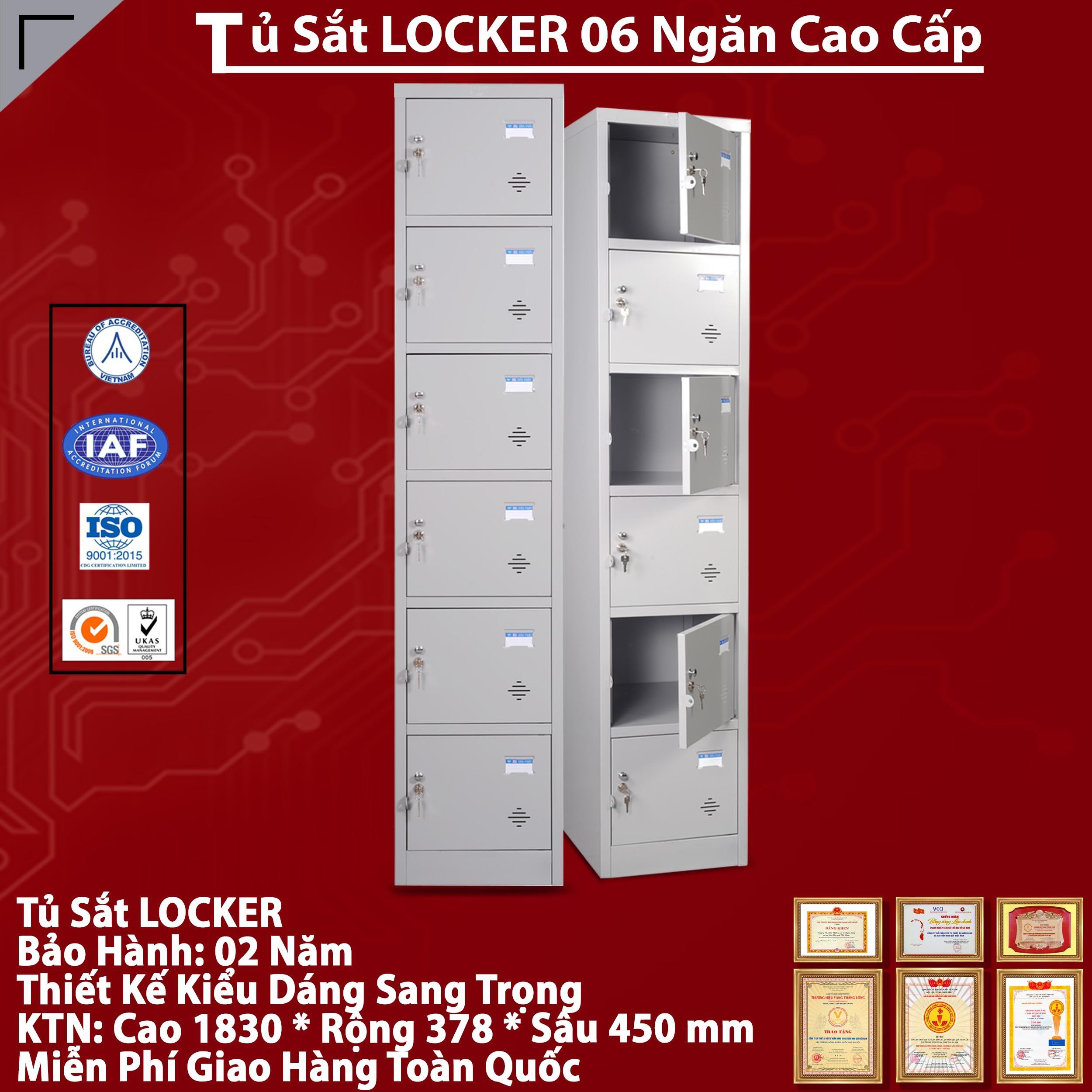 Nơi bán Tủ Locker 6 Ngăn giá rẻ, uy tín, chất lượng nhất