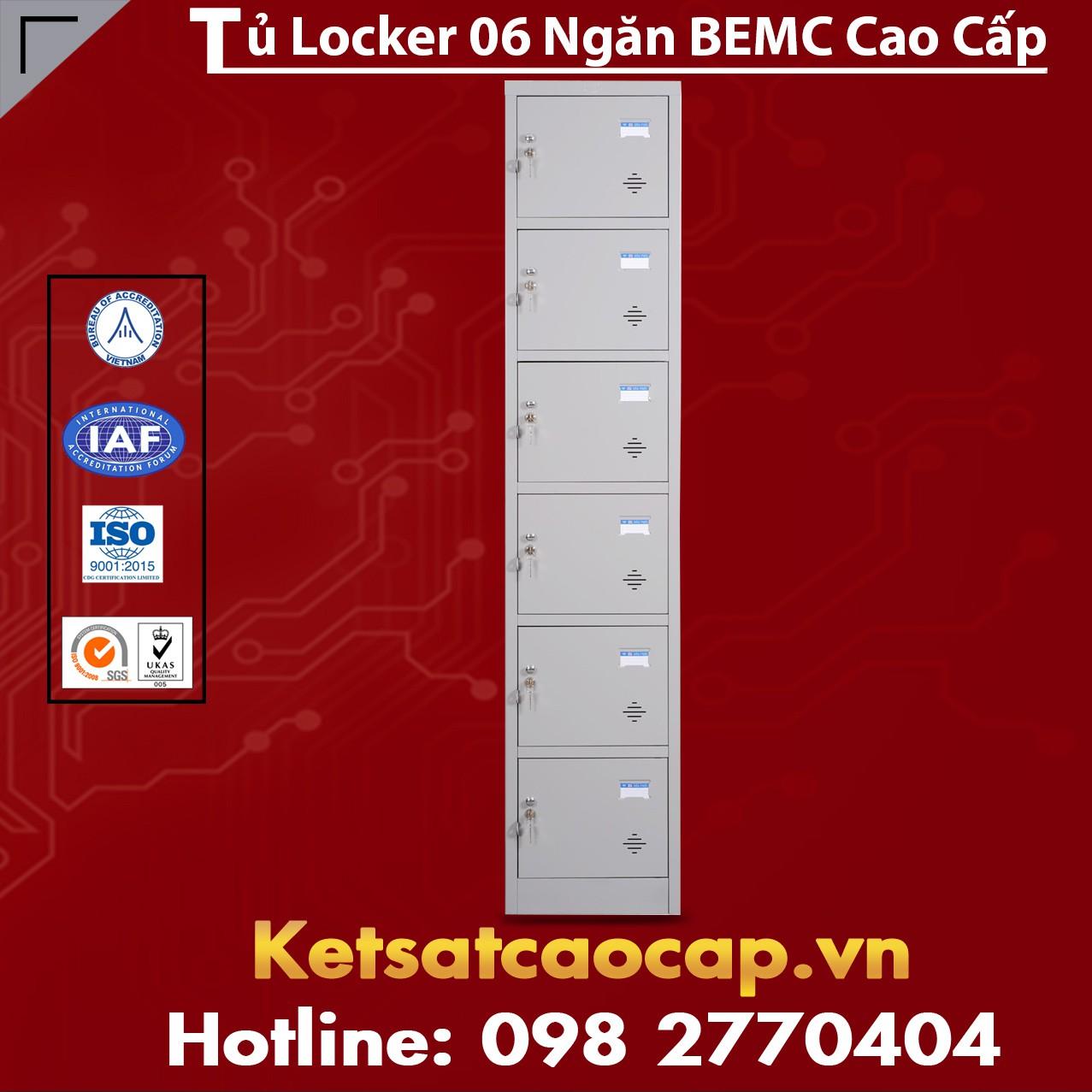 Tủ Locker BEMC 6 Ngăn Cao Cấp