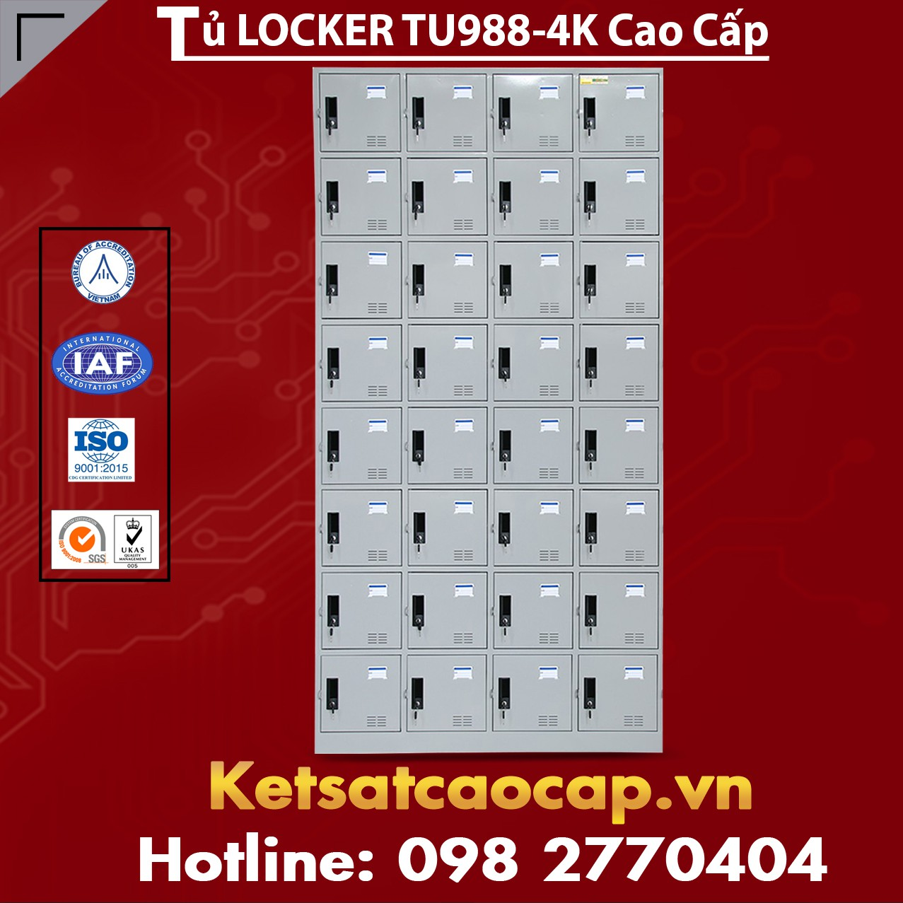 Tủ Locker TU988-4K