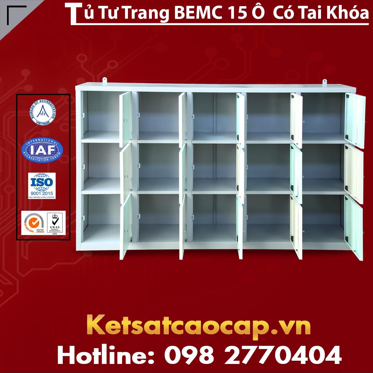 Tủ Tư Trang BEMC 15 Ô Có Tai Khoá