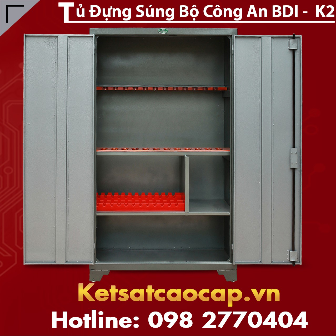 Tủ Đựng Súng Bộ Công An BDI - K2