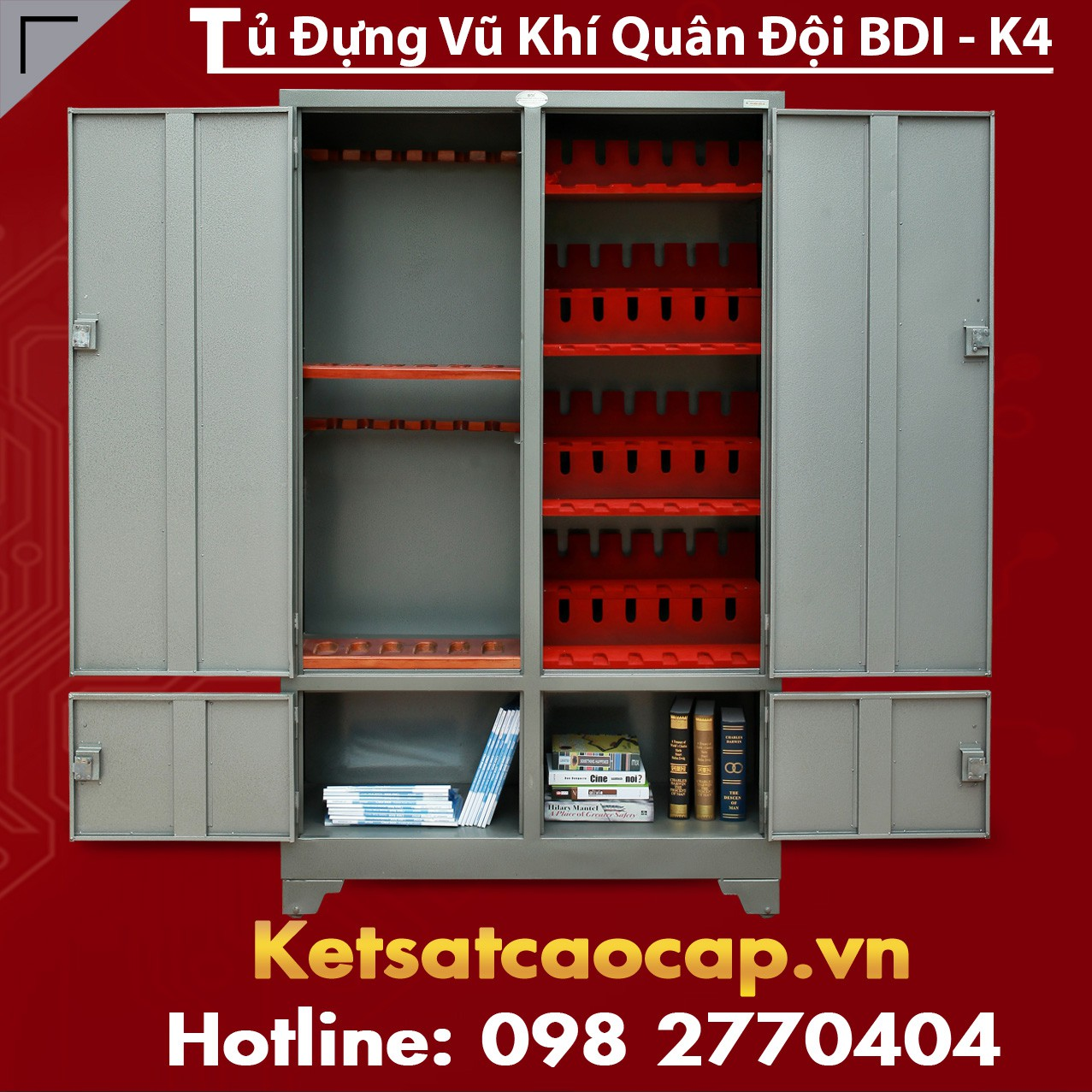Tủ Đựng Vũ Khí Quân Đội BDI - K4