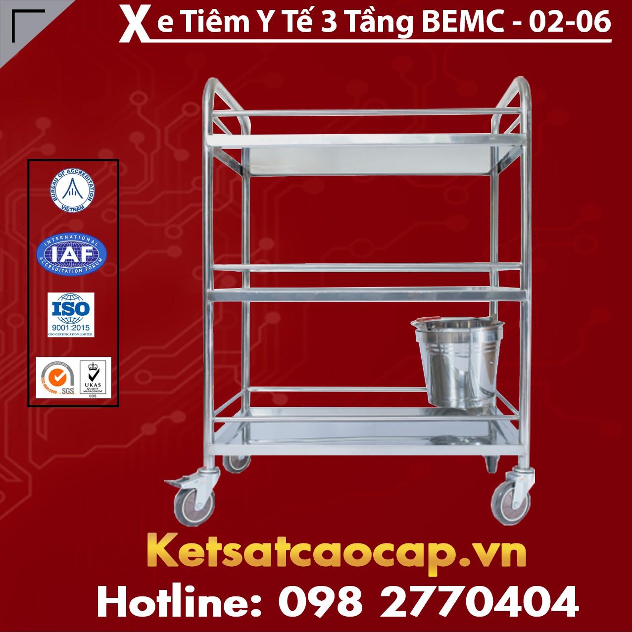 Xe Tiêm Y Tế 3 Tầng BEMC-02-06