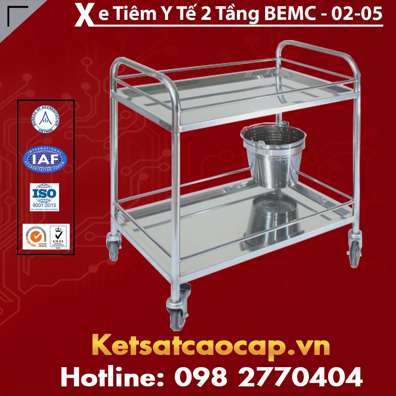 Xe Tiêm Y Tế 2 Tầng BEMC-02-05