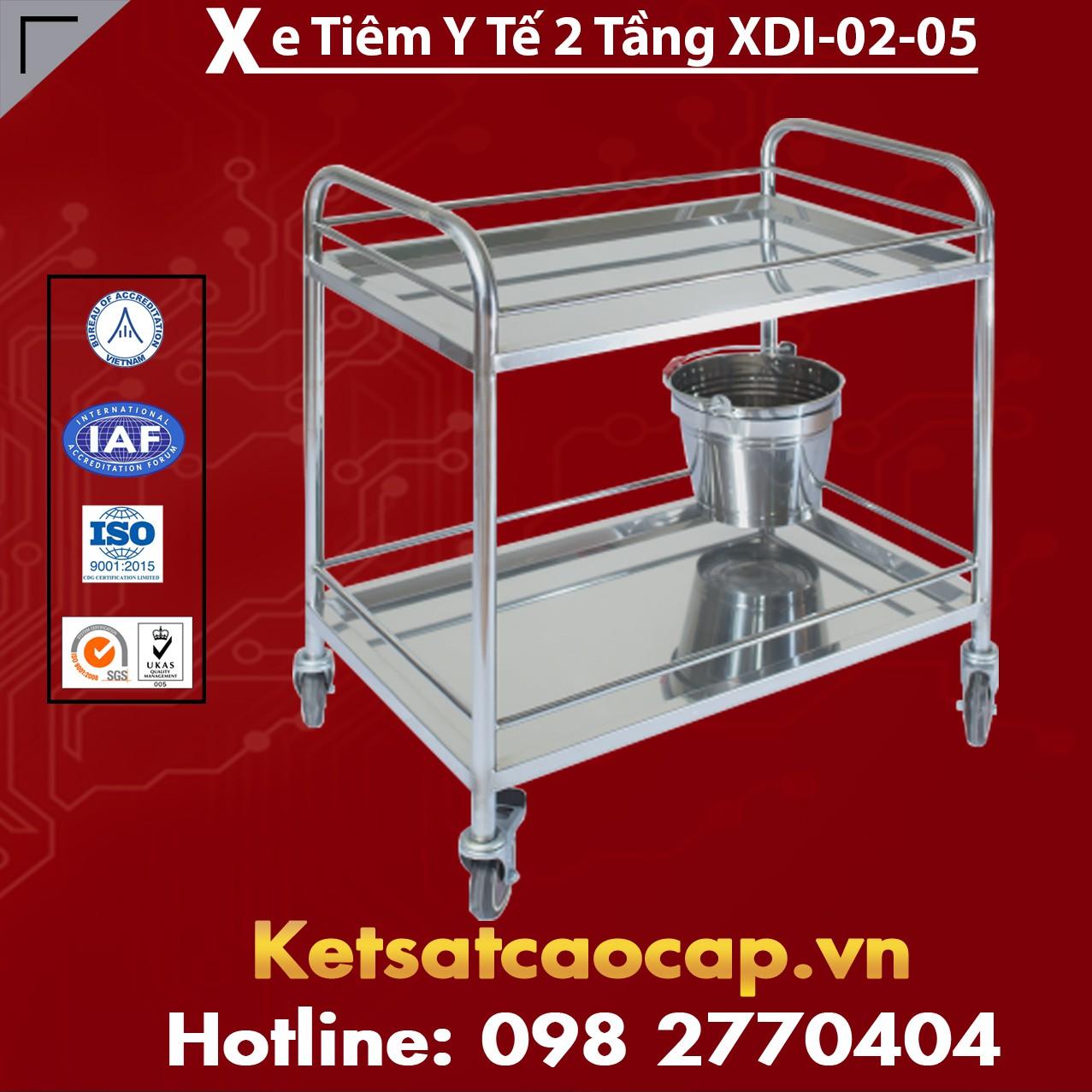 Xe Tiêm Y Tế 2 Tầng XDI-02-05