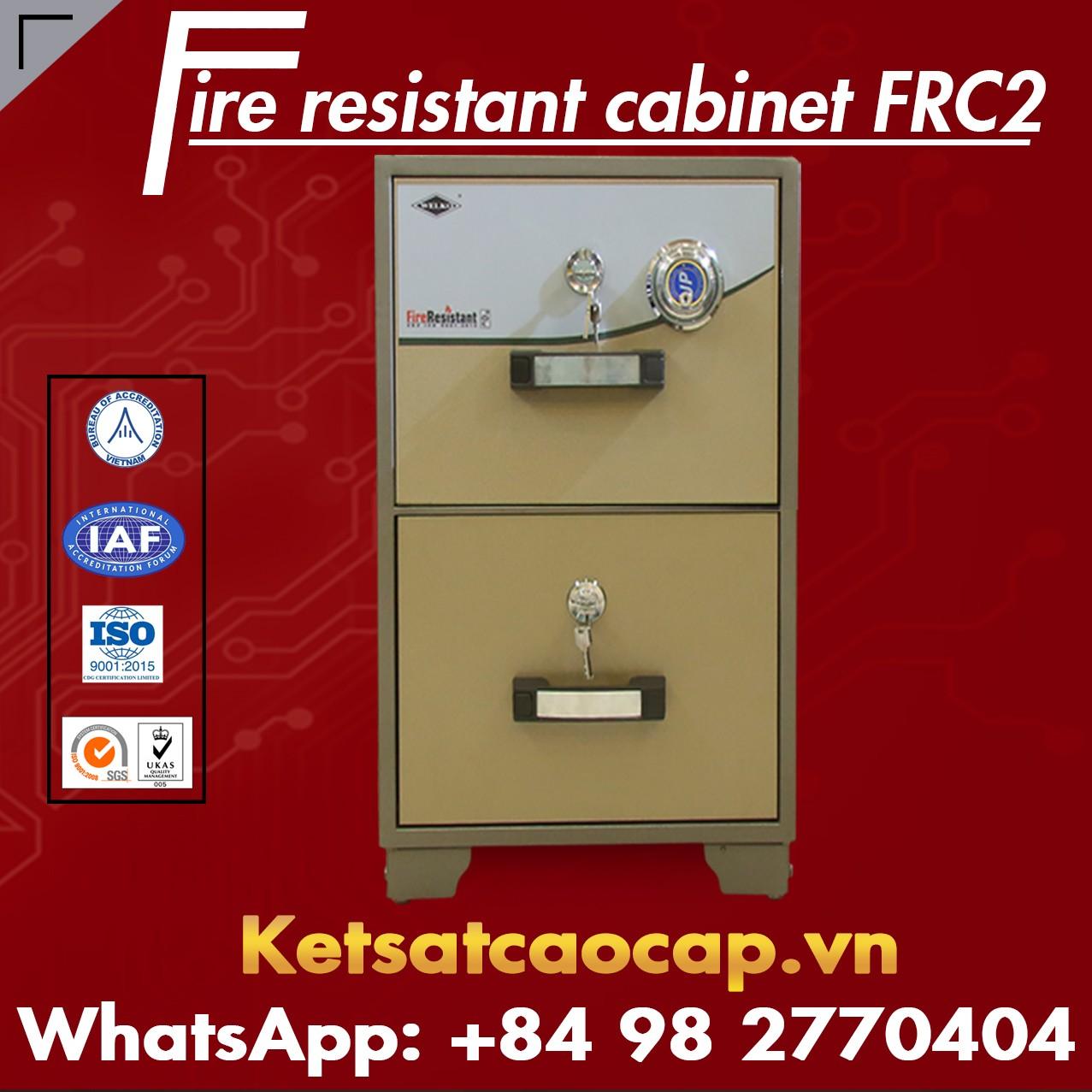 Tủ Hồ Sơ Chống Cháy FRC2 Brown Đạt Tiêu Chuẩn Quốc Tế