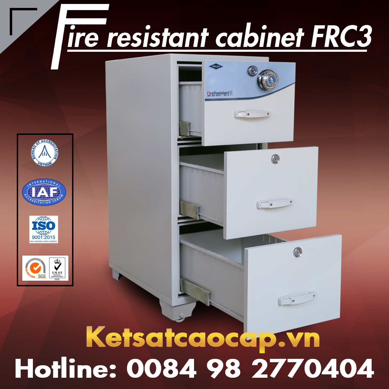 Dai ly cung cap tu ho so an toan WELKO Safes Fire Resistant Cabinet