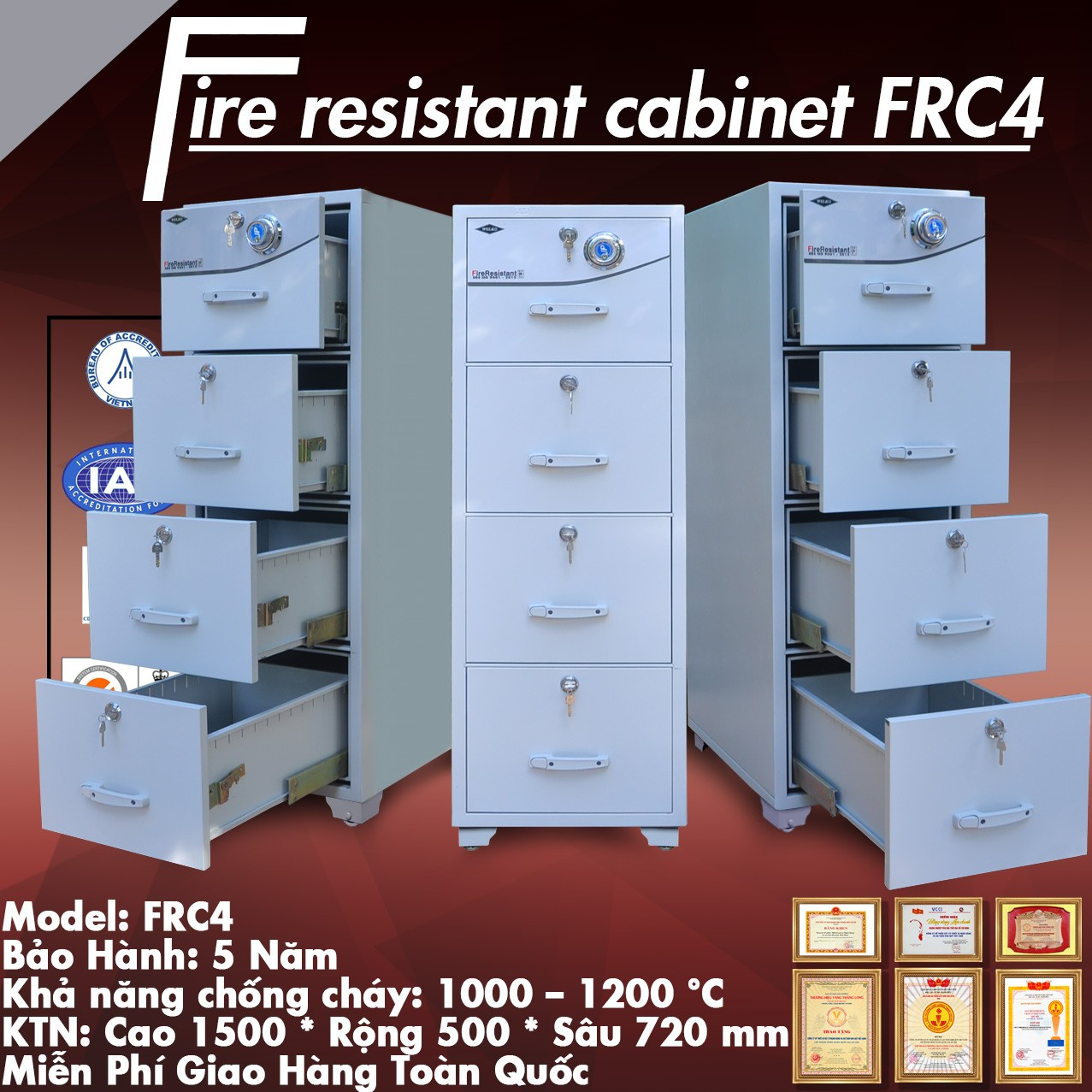 tủ hồ sơ chống cháy