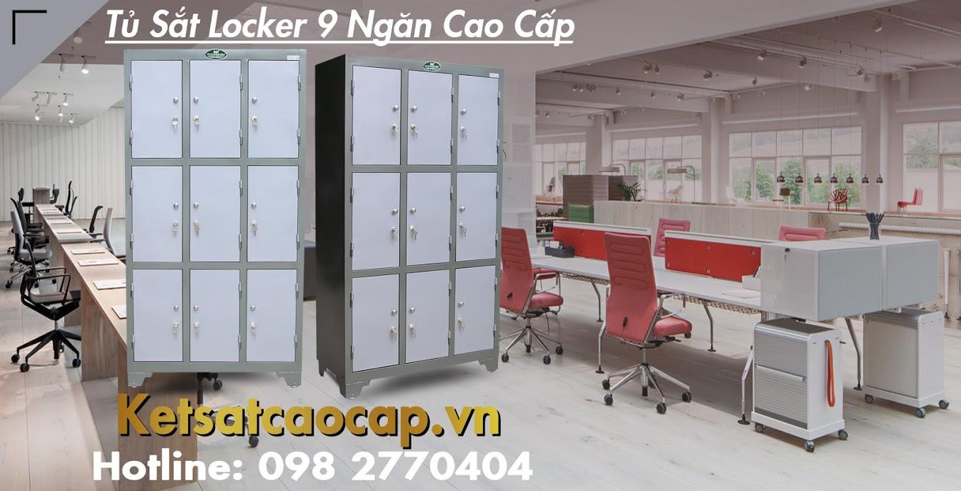 hình ảnh sản phẩm Tủ Sắt Locker 9 Ngăn