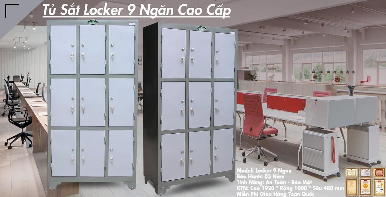 hình ảnh sản phẩm tủ locker 24 ngăn hòa phát
