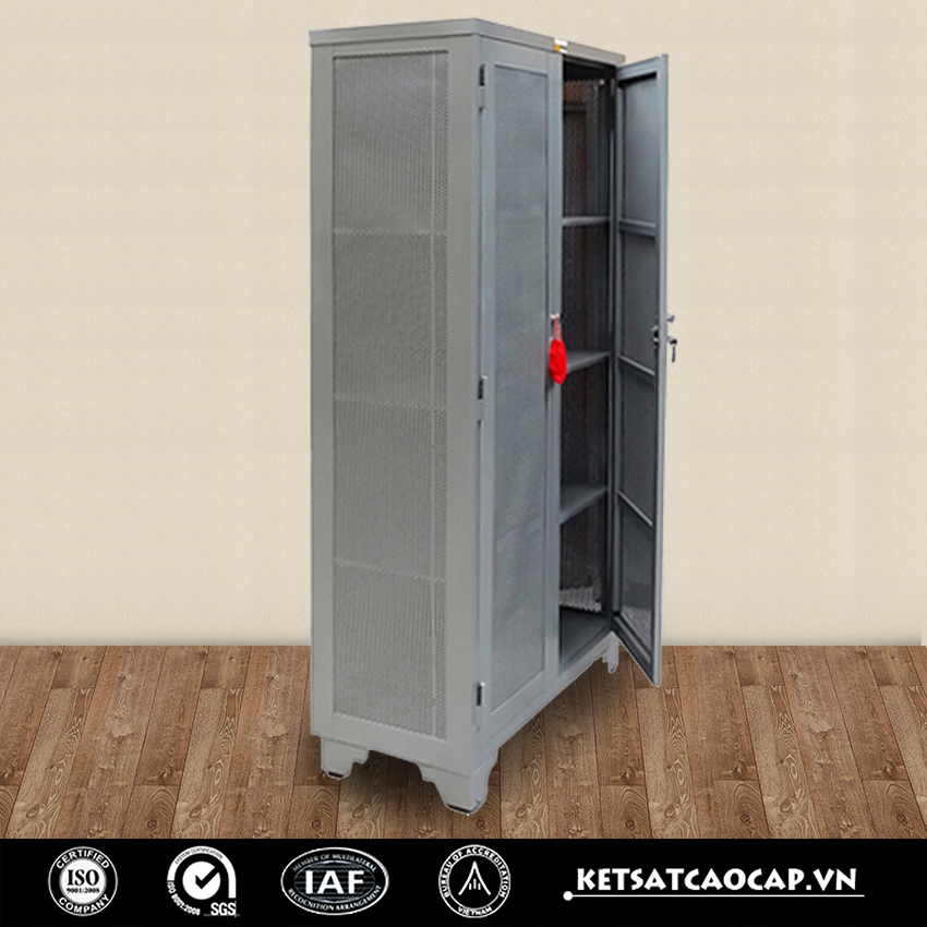 tủ sắt đựng quần áo 1m6
